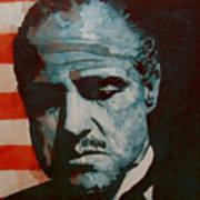 The Godfather-brando Art Print