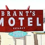 Brants Motel Sign Barstow Art Print