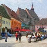 Brasov Council Square Art Print
