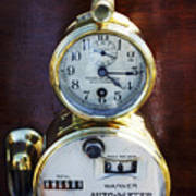 Brass Auto-meter Speedometer Art Print