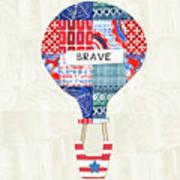 Brave Balloon- Art By Linda Woods Art Print
