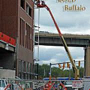 Brave Bold Buffalo Art Print