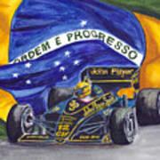 Brazil's Ayrton Senna Art Print
