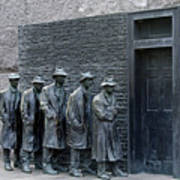 Breadline At The Fdr Memorial - Washington Dc Art Print by Brendan Reals