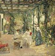 Breakfast On The Terrace Sir John Lavery Art Print
