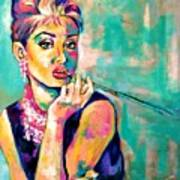 Audrey Hepburn Painting, Breakfast At Tiffany's Art Print