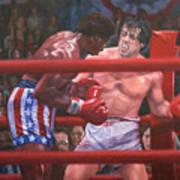 Breakin' Ribs - Rocky Art Print