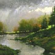 Breaking Clouds Art Print