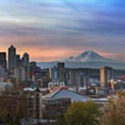 Breaking Dawn In Seattle Art Print