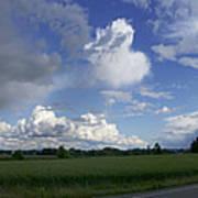 Breaking Storm Over The Willamette Valley 170522-170551 Art Print