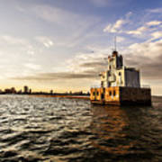 Breakwater Lighthouse Art Print