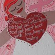 Breast Cancer Goddess Art Print