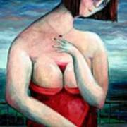 Breast Wine Art Print