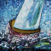 Breeze On Sails -2  Art Print