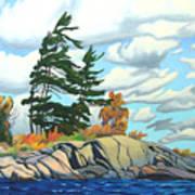 Breezy Day Georgian Bay Art Print
