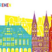 Bremen Skyline Pop Art Print