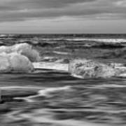 Brethamerkursandur Iceberg Beach Iceland 2155 Art Print