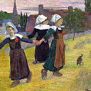 Breton Girls Dancing Pont-aven Art Print