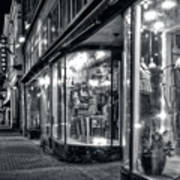 Brewery And Boutique In Black And White Art Print