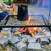 Brewing Outdoors Art Print