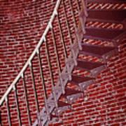 Brick And Stairs Art Print
