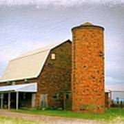 Brick Barn And Silo Art Print