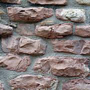 Brick Grungy Texture Art Print