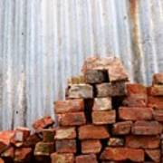 Brick Piled Art Print by Stephen Mitchell
