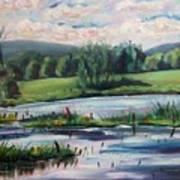 Brick Pond Afternoon Art Print