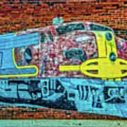 Brick Train Art Print