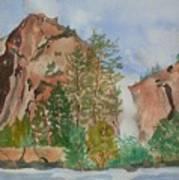 Bridalveil Fall At Yosemite  Art Print