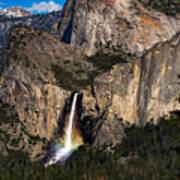 Bridalveil Falls Rainbow #3 Art Print
