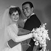 Bride And Groom, C.1960s Art Print