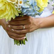 Brides Wedding Ring Art Print