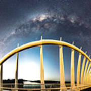Bridge Across The Galaxy Art Print
