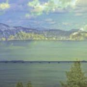 Bridge Across The  Lake Art Print
