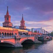 Bridge Across The River Spree, Berlin, Germany Art Print