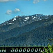 Bridge Alaska Rail  Art Print