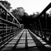 Bridge And Tunnel - B/w Art Print