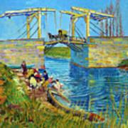 Bridge At Arles, Pont De Langlois, By Vincent Van Gogh, 1888, Kr Art Print
