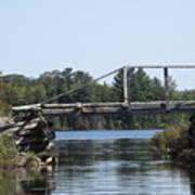 Bridge At Chub Art Print