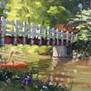 Bridge At Ellicott Creek Park Art Print