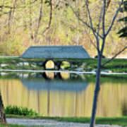 Bridge At Island Park Art Print