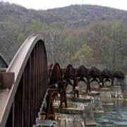 Bridge At Ohiopyle Pennsylvania Art Print