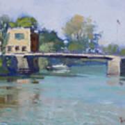Bridge At Tonawanda Canal Art Print