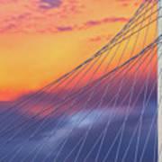 Bridge Detail At Sunrise Art Print