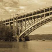 Bridge From The Train Art Print