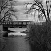 Bridge In Black And White Art Print