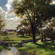 Bridge In Late Spring Art Print