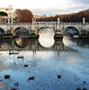 Bridge In Rome Art Print